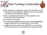 how funding is calculated