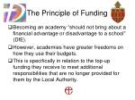 the principle of funding