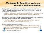 challenge 2 cognitive systems robotics and interaction