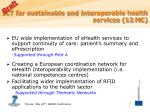 ict for sustainable and interoperable health services 12 m