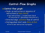 control flow graphs