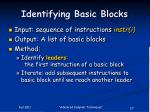 identifying basic blocks