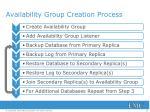 availability group creation process