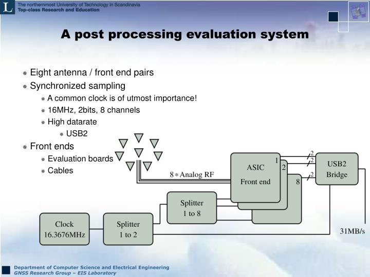 A post processing evaluation system