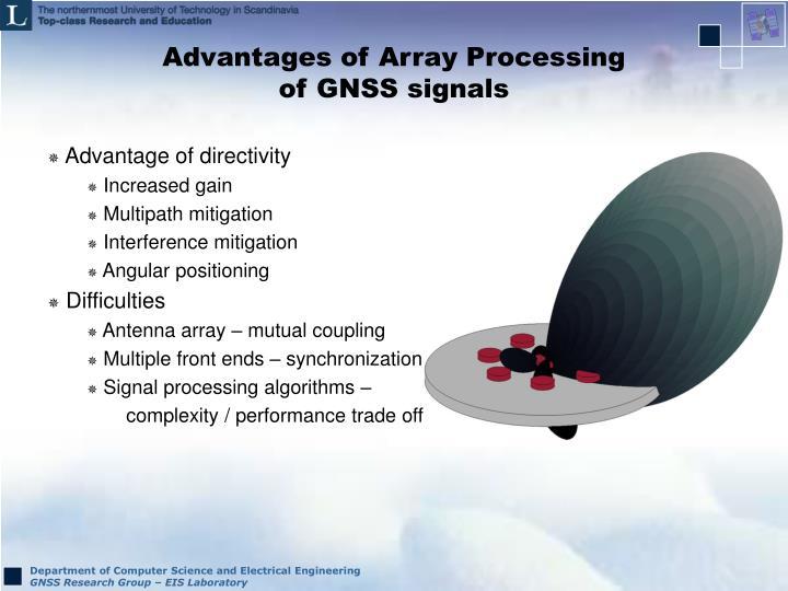 Advantages of Array Processing