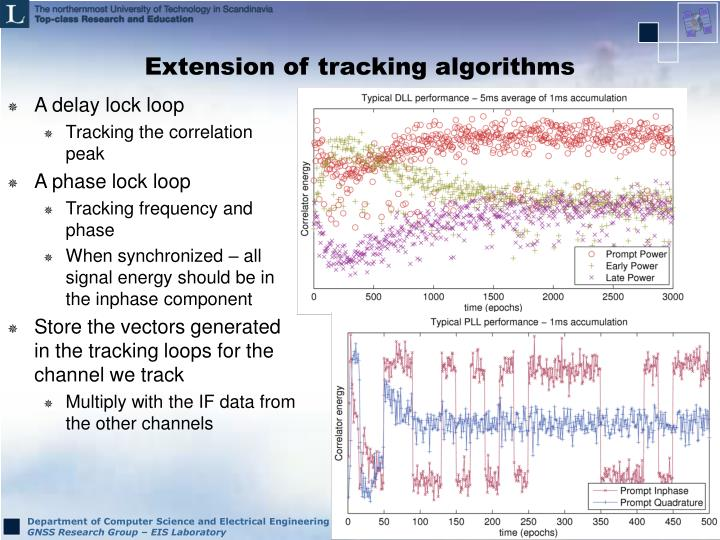 Extension of tracking algorithms