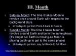 iii month