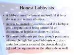 honest lobbyists