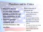 pluralism and its critics