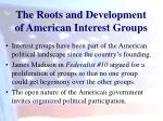 the roots and development of american interest groups