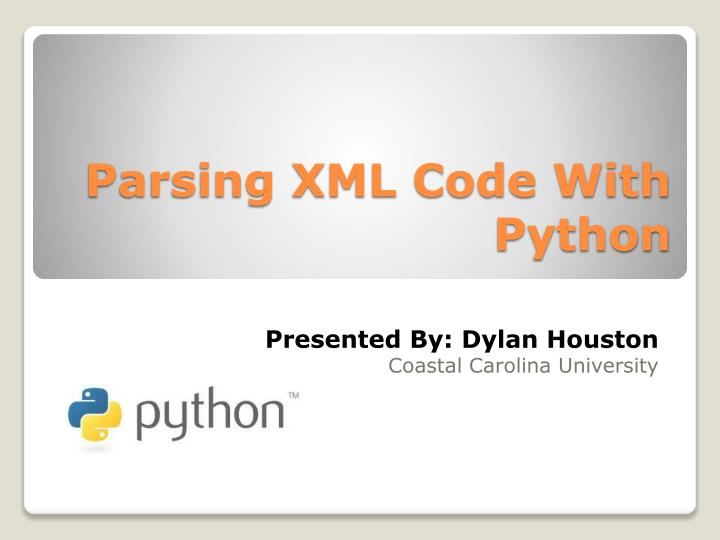 PPT - Parsing XML Code With Python PowerPoint Presentation