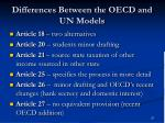 differences between the oecd and un models1