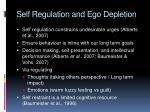 self regulation and ego depletion