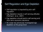 self regulation and ego depletion1