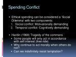 spending conflict