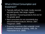 what is ethical consumption and investment