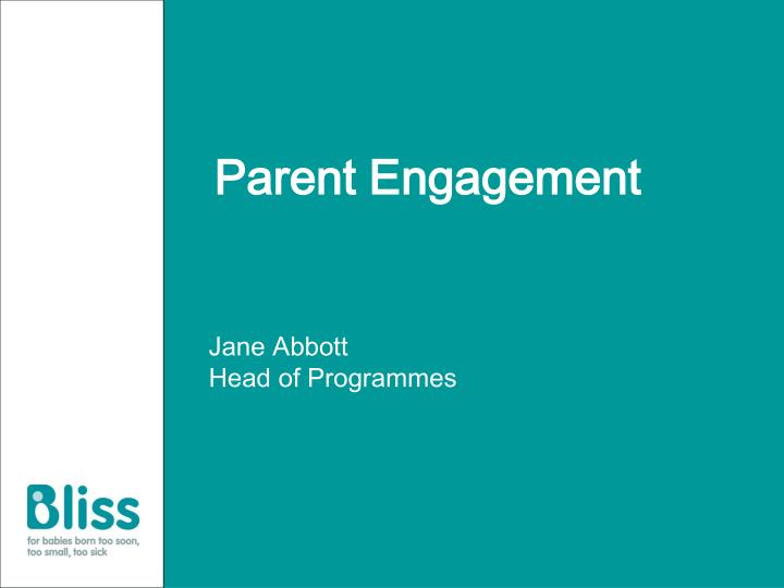 parent engagement n.