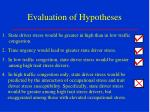 evaluation of hypotheses