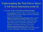 understanding the trait driver stress x job stress interaction cont d1