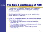 the egs challenges of kbs