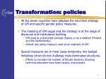 transformation policies