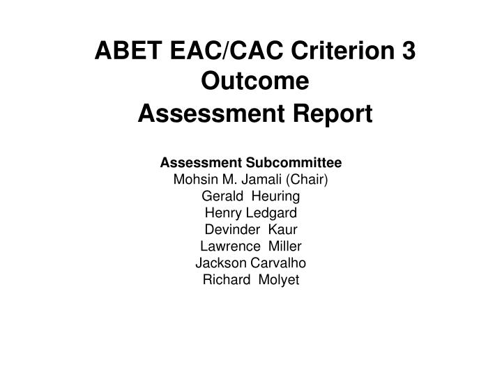 abet eac cac criterion 3 outcome assessment report n.