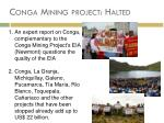 conga mining project halted