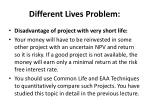 different lives problem1