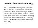 reasons for capital rationing5