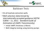 baildown tests