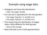 example using wage data