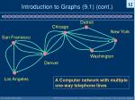 introduction to graphs 9 1 cont8