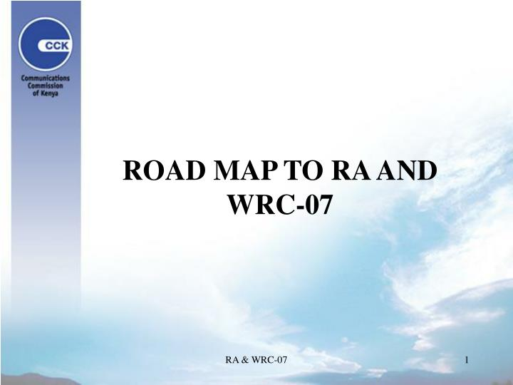 road map to ra and wrc 07 n.