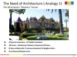 the need of architecture analogy 1 the winchester mystery house