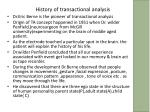 history of transactional analysis