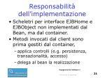 responsabilit dell implementazione