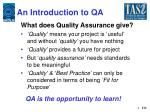 an introduction to qa1