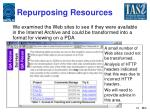 repurposing resources
