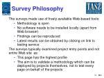 survey philosophy