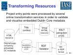 transforming resources