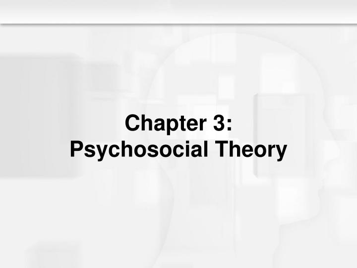 chapter 3 psychosocial theory n.