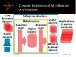 generic institutional middleware architecture