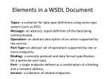 elements in a wsdl document