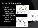 more orbital shells