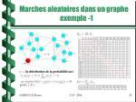 marches aleatoires dans un graphe exemple 1