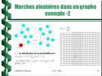 marches aleatoires dans un graphe exemple 2