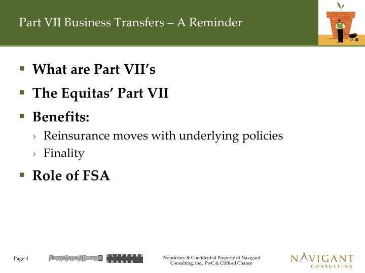 Part VII Business Transfers – A Reminder