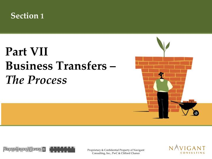 Part vii business transfers the process
