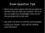 exam question tips
