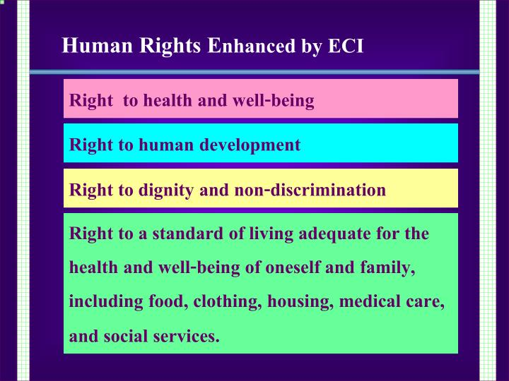 Right  to health and well-being